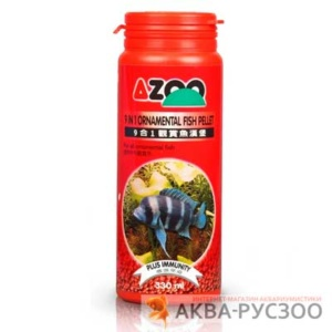 Корм для рыб AZOO 9 IN 1 ORNAMENTAL FISH PELLET 120 мл